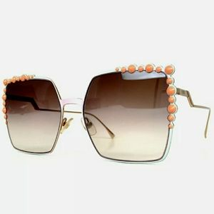 AUTH FENDI 0259 CAN EYE STUDS SQUARE SUNGLASSES